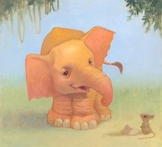 Elephant children's illustrations | by Vicente Di Nguyen