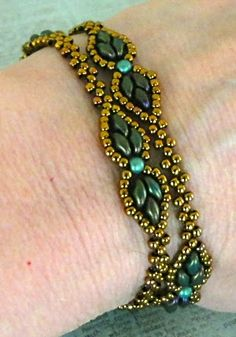 Linda's Crafty Inspirations: Dream Empress Bracelet with link to video.  #Seed #Bead #Tutorials