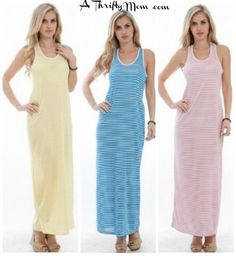 maxi dress striped SALE low as $10