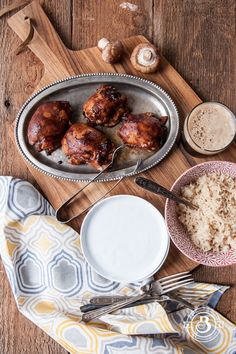 Mushroom-Stuffed, Hoisin-Stout-Glazed Chicken Thighs