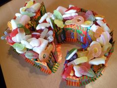 Number/letter sweetie cakes - The Supermums Craft Fair Sweetie Birthday Cake, Sweetie Cake, 5th Birthday Cake, Number 5 Cake, Nautical Cake, Beautiful Birthday Cakes, Scrapbooking, Candy Party, Occasion Cakes