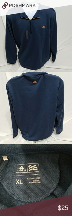 Adidas pullover XL men's NWT Adidas pullover blue  27 inches armpit to armpit  30 inches long Size XL Adidas Tops Sweatshirts & Hoodies