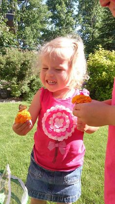 This girl is very happy to welcome a butterfly into the world! Thanks to Tanya Knott Koopmans for an adorable photo!