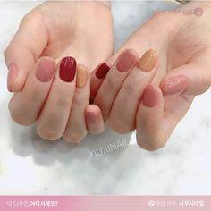 25 Ideas gel manicure ideas for short nails summer simple Cute Acrylic Nails, Cute Nails, Pretty Nails, Gradient Nails, Gel Manicure Designs, Manicure Ideas, Korean Nail Art, Minimalist Nails, Dream Nails
