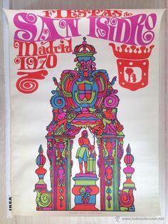 CARTEL ANUNCIADOR FIESTAS DE SAN ISIDRO - 1970
