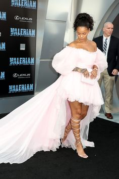 Rihanna attends the premiere of EuropaCorp and STX Entertainment's 'Valerian and The City of a Thousand Planets' at TCL Chinese Theatre on July 17, 2017 in Hollywood, California.