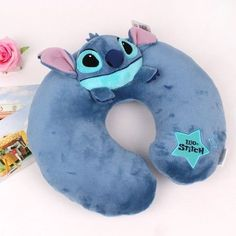 Disney Stitch Star Neck Pillow Cushion Girl Drive Lilo and Stitch Toy Plush Doll