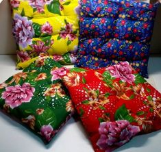 Ponto do Bordado: 30 idéias para fazer em Chita Kantha Quilt, Quilts, Cushions, Pillows, Chinese Style, Visual Merchandising, Fabric Patterns, Girls Bedroom, Diy And Crafts
