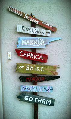 New Season: Nerd Alert! Fantasy Worlds Street Sign