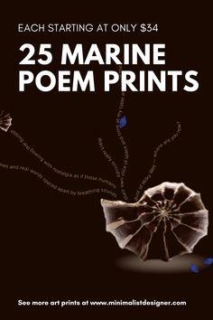25 marine poem prints