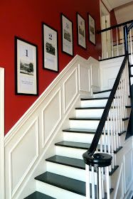 Stairway idea (wainscotting)