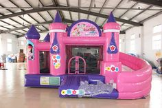 Princess Inflatable Castle For Kids Princess Bounce House, Castle Bounce House, Bouncy House, Bouncy Castle, Brinquedos Fisher Price, Toys For Girls, Kids Toys, Inflatable Water Park, Inflatable Island