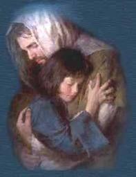 el abrazo de Jesús
