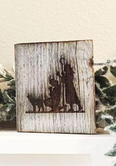 Rustic weathered barnwood nativity scene by RoxyHeartVintage