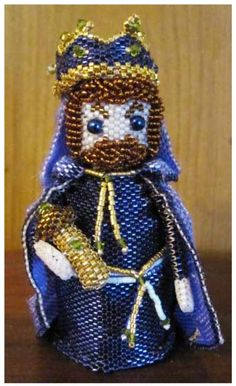 3D Beaded Wise Man 3 Pattern | Bead-Patterns.com