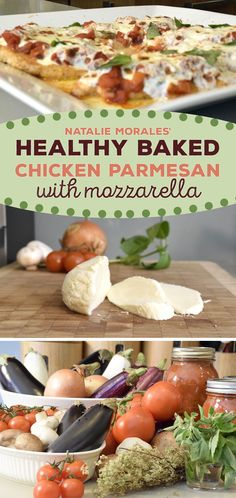 Natalie Morale's baked chicken parmesan recipe is healthy and kid-friendly. Try this Italian recipe for a delicious chicken dinner.