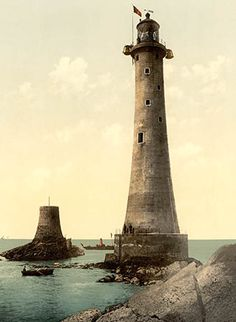 Eddystone lighthouse and the stump of Smeaton's Tower