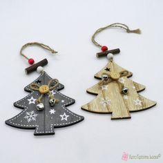 Ξύλινο έλατο σε τρία χρώματα Wooden Products, Xmas Tree, Christmas Ornaments, Decoration, Holiday Decor, Home Decor, Decor, Decoration Home, Christmas Tree