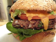 <p>These burgers are tasty and hold together perfectly. I didn't add a lot of spices to the burgers so go crazy with the toppings. We had them with lettuce, tomatoes, avocado and topped with sautéed mushrooms and Mississippi Comeback Sauce!  Here's to perfect burger making</p>