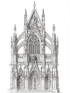 North Portal, Cologne Cathedral, Germany - John Simlett