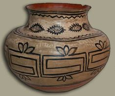 RARE Historic Tesuque Pueblo 19th Century Olla