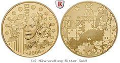 RITTER Frankreich, 10 Euro 2004, Europa, PP #coins #numismatics