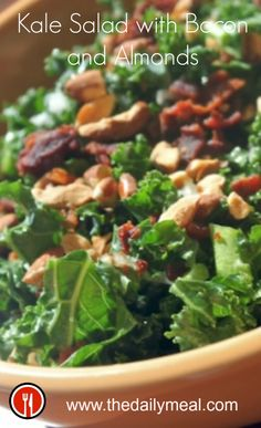 The reason to eat raw kale? It stands up really well to hearty salad ingredients like bacon, pancetta, nuts, Kalamata olives, big chunks of blue cheese (mmm), or orange and apple slices: http://www.thedailymeal.com/kale-salad-bacon-and-almonds