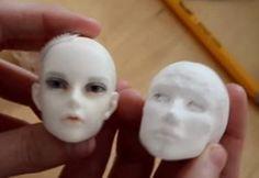 Air Dry Clay Tutorials: Sculpting a Small BJD Head in Paperclay