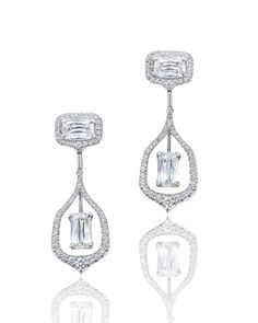See how they shine as they catch the light - @boodlesuk Wisteria Ashoka-cut #diamond #earrings. #boodles See more at www.thejewelleryeditor.com
