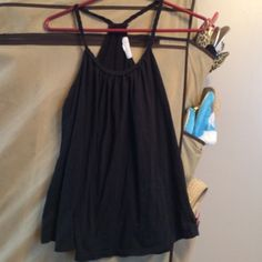 Forever 21 Braided Black Tank Top Size Medium Forever 21 Black Tank Racerback Style with Braided neckline and straps. Size Medium Forever 21 Tops Tank Tops