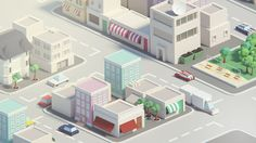 Low poly city on Behance