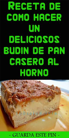 Receta de como hacer un deliciosos budin de pan casero al horno Fırın yemekleri Banana Bread, French Toast, Sandwiches, Breakfast, Desserts, Food, Sugar, Microwaves, Cooking Recipes
