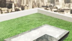 Eco, tripple glazed rooflight on green roof. By #eosrooflights #eco