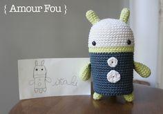 { Amour Fou   Crochet }: Ulises - The Robot