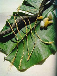Thai Holy Thread Organic Silk Cord Macrame Bracelet (good luck charm)