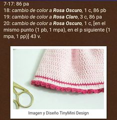 Conejita con vestido, patrón en castellano | Otakulandia.es Hello Kitty, Crochet Hats, Dress, Perfect Game, Knitted Baby Blankets, Crochet Baby, Free Pattern, Tutorials, Knitting Hats