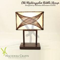 Hacienda Crafts Co. Lamp Design, Natural Materials, Eco Friendly, Environment, Table Lamp, Shapes, Lighting, Crafts, Home Decor