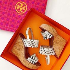 Tory Burch Daisy Perforated Wedge Sandals