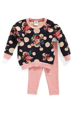 Pippa & Julie Quilted Sweatshirt & Leggings (Baby Girls) available at #Nordstrom