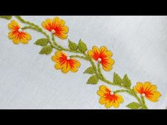 hand embroidery patterns for quilts Border Embroidery Designs, Basic Embroidery Stitches, Hand Embroidery Videos, Embroidery Flowers Pattern, Embroidery Patterns Free, Hand Embroidery Designs, Beaded Embroidery, Embroidery Motifs, Embroidery Ideas