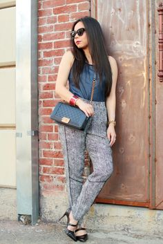Haute Pink Pretty in the Slouchy Seamed Pant