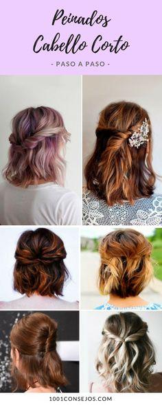 Luce hermosa con los mejores peinados para cabello corto. | peinados cabello corto fiesta | peinados cabello corto paso a paso ideas | peinados cabello corto fáciles casuales | #peinados