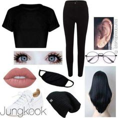 Bts inspired outfits in 2019 Kpop Fashion Outfits, Korean Outfits, Girl Fashion, Dance Outfits, Girl Outfits, Mode Kpop, Bts Clothing, Bts Inspired Outfits, Tumblr Outfits