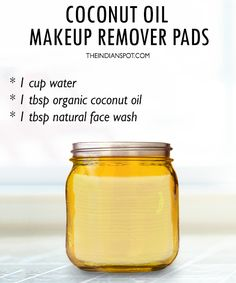 Coconut Oil makeup remover pads