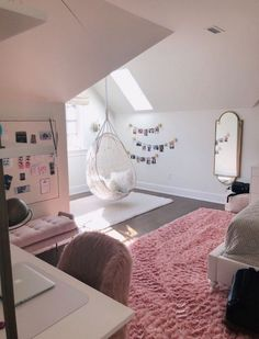 45 cute and girly bedroom decorating tips for girl 16 - Cute Bedroom Decor, Cute Bedroom Ideas, Girl Bedroom Designs, Stylish Bedroom, Modern Bedroom, Contemporary Bedroom, Girl Room Decor, Farmhouse Contemporary, Bedroom Themes