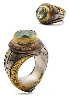 "Melinda Risk Jewelry Green Amethyst ""Travelers Ring"""