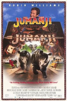 Jumanji (1995) - Adventure | Family | Fantasy - When two kids find and play a magical board game, they release a man trapped for decades in it and a host of dangers that can only be stopped by finishing the game. Stars: Robin Williams, Kirsten Dunst, Bonnie Hunt