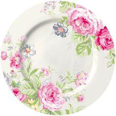 GreenGate Stoneware Plate Vera Pale Pink D 20,5 cm