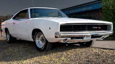 "1968 Dodge Charger in rare ""Alpine White."""