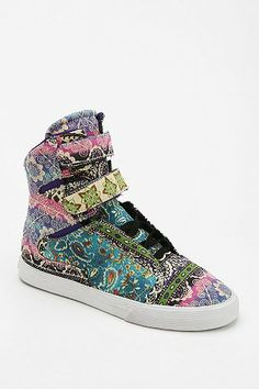 SUPRA Society Paisley Pattern High-Top Sneaker